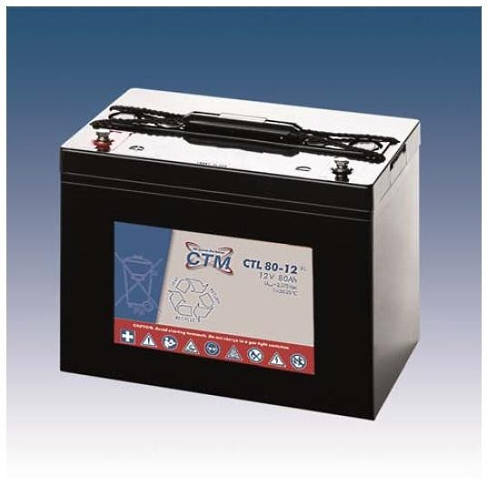 CTM Glasfaservlies (AGM) Batterie CTL 80-12 Long Life | 80Ah - 12V