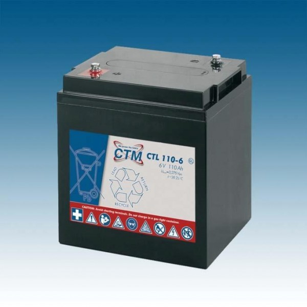 CTM Glasfaservlies (AGM) Batterie CTL 110-6 Long Life | 110Ah - 6V