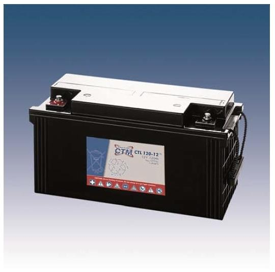 CTM Glasfaservlies (AGM) Batterie CTL 120-12 Long Life | 120Ah - 12V
