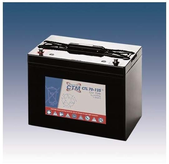 CTM Glasfaservlies (AGM) Batterie CTL 70-12s Long Life | 70Ah - 12V s