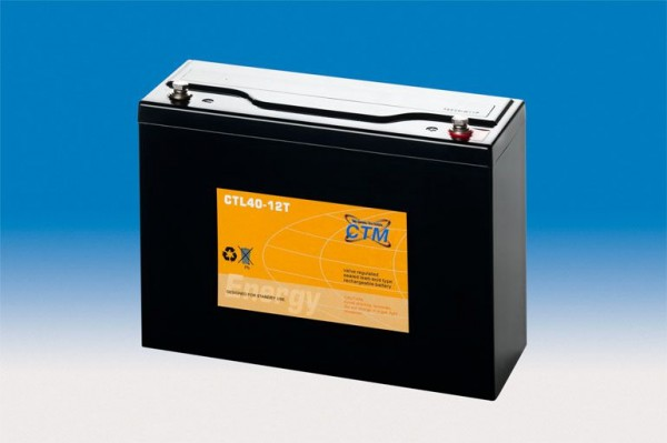 CTM Glasfaservlies (AGM) Batterie CTL 40-12T Long Life | 40Ah - 12V