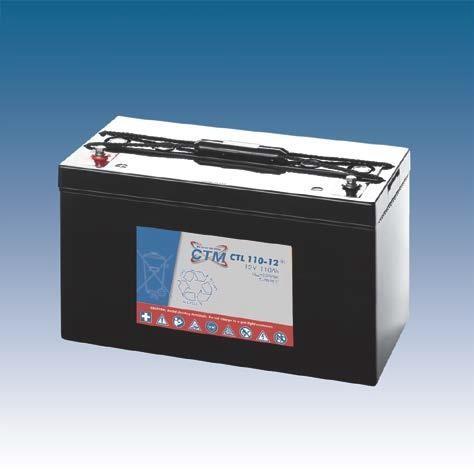 CTM Glasfaservlies (AGM) Batterie CTL 110-12 Long Life | 110Ah - 12V
