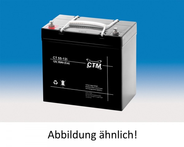 CTM Glasfaservlies (AGM) Batterie CT 55-12 | 55Ah - 12V
