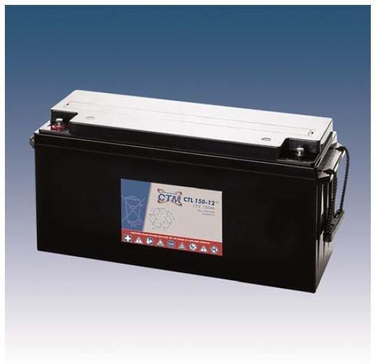 CTM Glasfaservlies (AGM) Batterie CTL 150-12 Long Life | 150Ah - 12V