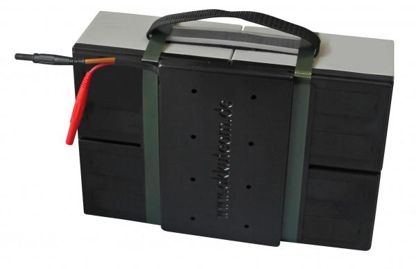 Batterieblock für MZ Elektroroller Charly 2 (II) | Rot / Schwarzer Stecker 24 V / 24 Ah