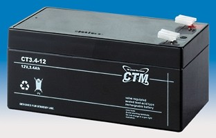 CTM Glasfaservlies (AGM) Batterie CT 3,4-12 | 3,4Ah - 12V