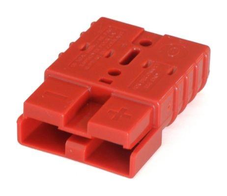 Anderson Flachkontaktstecker/-steckdose SB / SR 50, rot, 24 Volt, komplett