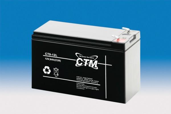 CTM Glasfaservlies (AGM) Batterie CT 9-12 L | 9Ah - 12V