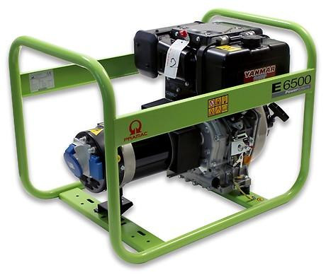 PRAMAC E 6500 5300W 230V Diesel Stromerzeuger Lichtstrom
