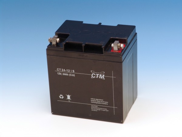 CTM Glasfaservlies (AGM) Batterie CT 24 -12s | 24Ah - 12V
