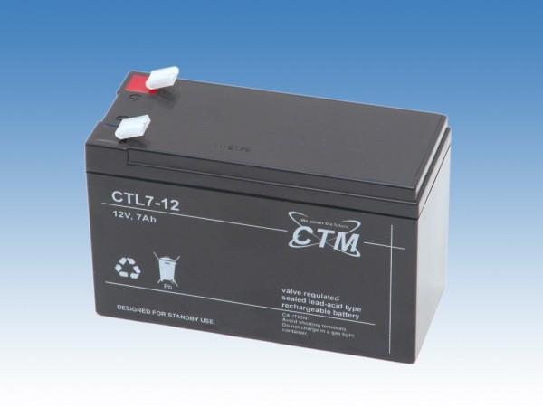 8x CTM Glasfaservlies (AGM) Batterie CTL 7-12 Long Life | 7Ah - 12V