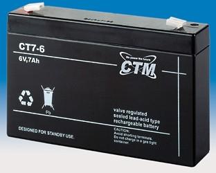 CTM Glasfaservlies (AGM) Batterie CT 7-6 | 7Ah - 6V