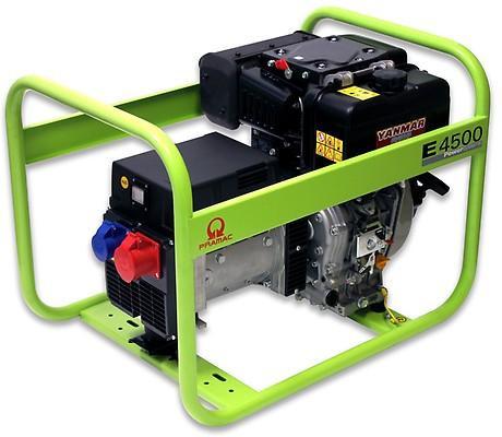 PRAMAC E 4500 3700W 230V / 400V Diesel Stromerzeuger Drehstrom