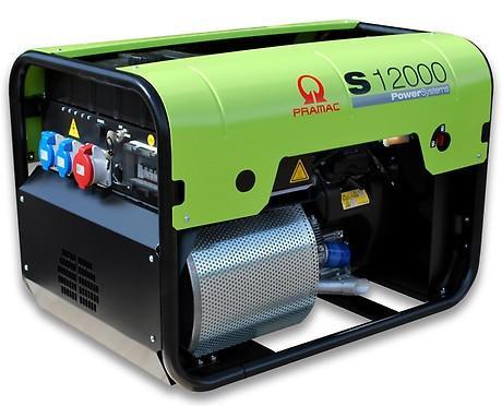 PRAMAC S 12000 10000W 230V / 400V Benzin Stromerzeuger E-Start Bau 3-fach INenn