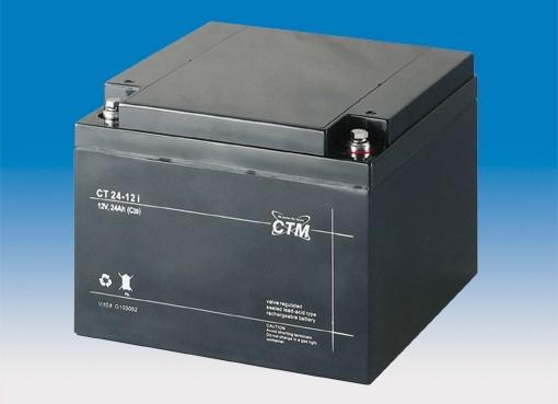 CTM Glasfaservlies (AGM) Batterie CT 24 -12 VdS zertifiziert | 24Ah - 12V