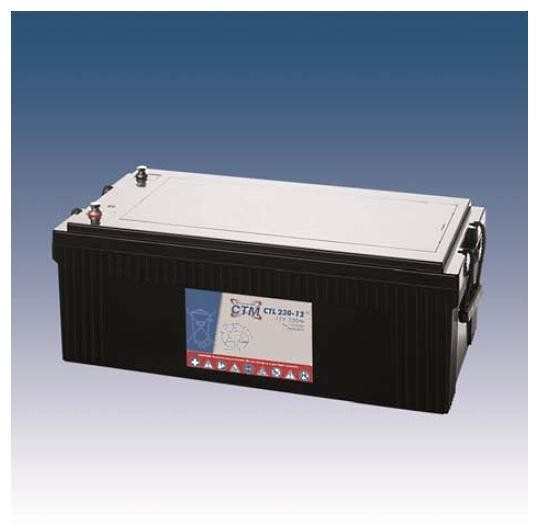 CTM Glasfaservlies (AGM) Batterie CTL 230-12 Long Life | 230Ah - 12V