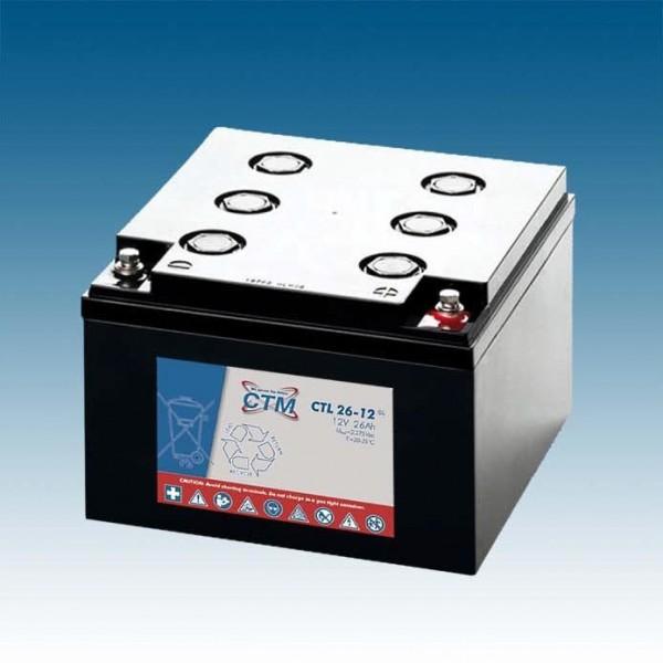 CTM Glasfaservlies (AGM) Batterie CTL 26-12 Long Life | 26Ah - 12V