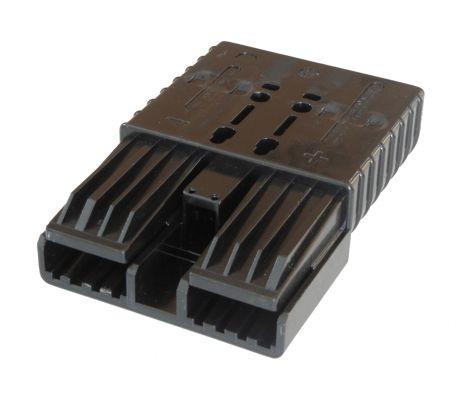 REMA Flachkontaktstecker SRX 350, schwarz, 80 Volt, komplett mit wählbaren Hauptkontakten