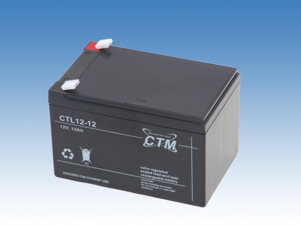 CTM Glasfaservlies (AGM) Batterie CTL 12-12 Long Life | 12Ah - 12V