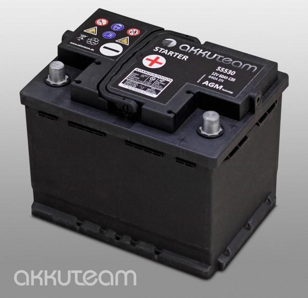 AGM Autobatterie 12V 60Ah 640A Start-Stop-Technologie