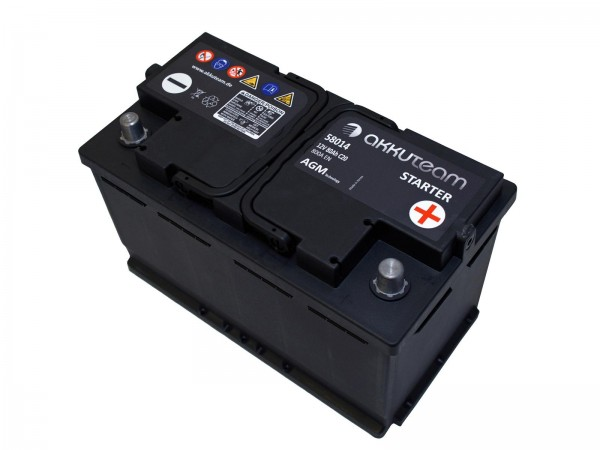 AGM Autobatterie 12V 80Ah 800A Start-Stop-Technologie A-Ware