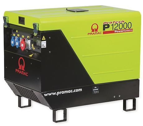 PRAMAC P 12000 11100W 230V / 400V Benzin Stromerzeuger schallgedämmt E-Start