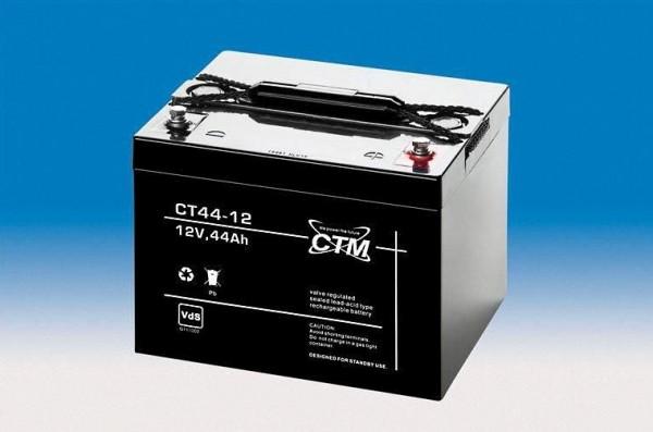 CTM Glasfaservlies (AGM) Batterie CT 44 -12 VdS zertifiziert | 44Ah - 12V
