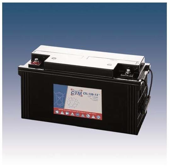 CTM Glasfaservlies (AGM) Batterie CTL 120-12 Long Life | 120Ah - 12V