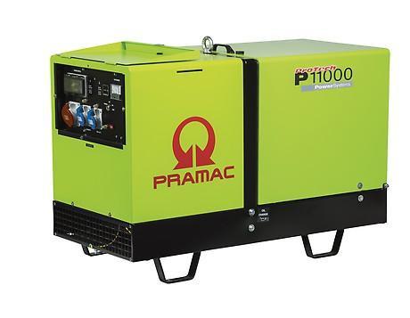 PRAMAC P 11000 8600W 230V / 400V Diesel Stromerzeuger schallgedämmt E-Start