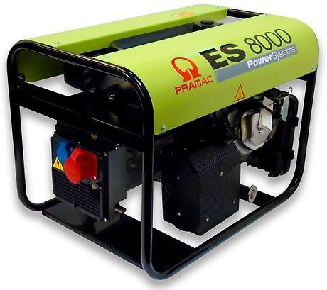 PRAMAC ES 8000 6600W 230V / 400V Benzin Stromerzeuger