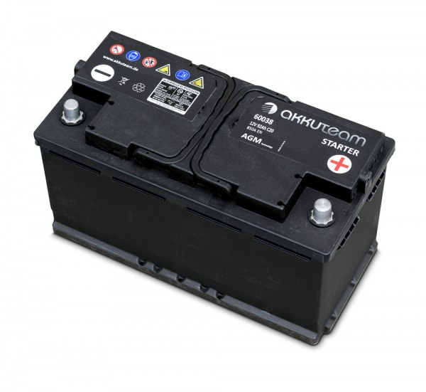 AGM Autobatterie 12V 92Ah 850A Start-Stop-Technologie A-Ware