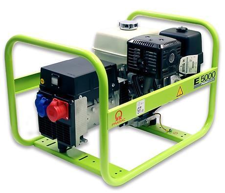 PRAMAC E 5000 5000W 230V / 400V Benzin Stromerzeuger Drehstrom