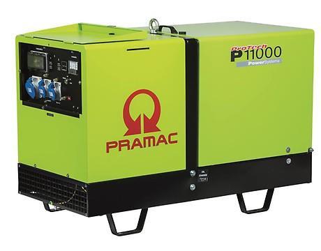 PRAMAC P 11000 9700W 230V Diesel Stromerzeuger schallgedämmt E-Start