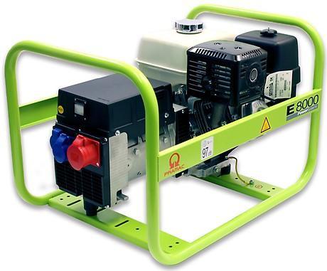 PRAMAC E 8000 6600W 230V / 400V Benzin Stromerzeuger Drehstrom