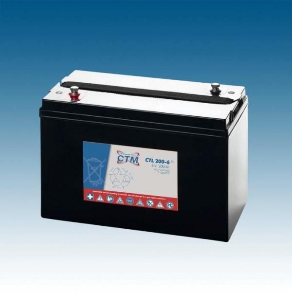 CTM Glasfaservlies (AGM) Batterie CTL 200-6 Long Life | 200Ah - 6V