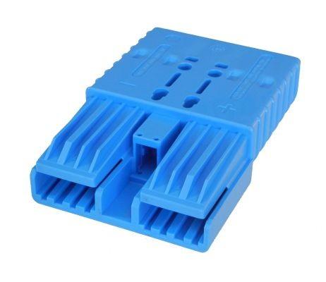 REMA Flachkontaktstecker SRX 350, blau, 48 Volt, komplett mit wählbaren Hauptkontakten