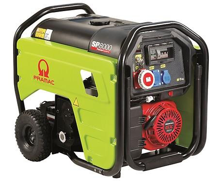 PRAMAC SP 8000 7100W 230V / 400V Benzin Stromerzeuger THI