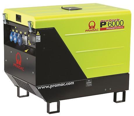 PRAMAC P 6000 5300W 230V Diesel Stromerzeuger schallgedämmt E-Start