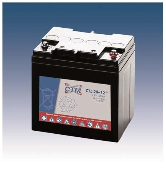 CTM Glasfaservlies (AGM) Batterie CTL 28-12 Long Life | 28Ah - 12V