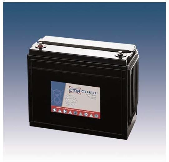 CTM Glasfaservlies (AGM) Batterie CTL 135-12 Long Life | 135Ah - 12V