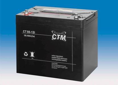 CTM Glasfaservlies (AGM) Batterie CT 80-12i | 80Ah - 12V