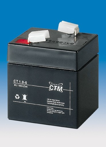 CTM Glasfaservlies (AGM) Batterie CT 1-6 | 1Ah - 6V