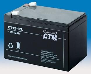 CTM Glasfaservlies (AGM) Batterie CT 12-12 L VdS zertifiziert | 12Ah - 12V