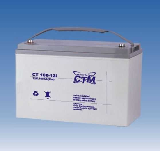 CTM Glasfaservlies (AGM) Batterie CT 100-12I | 100Ah - 12V