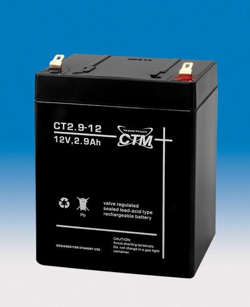 CTM Glasfaservlies (AGM) Batterie CT 2,9-12   2,9Ah - 12V