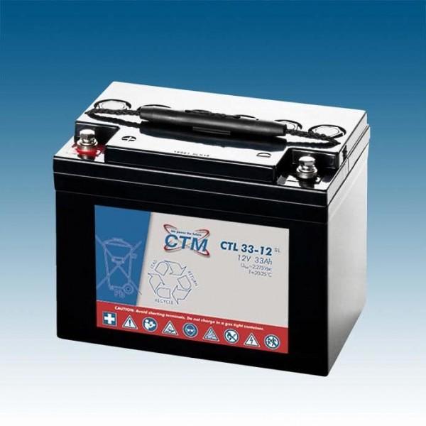CTM Glasfaservlies (AGM) Batterie CTL 33-12 Long Life | 33Ah - 12V