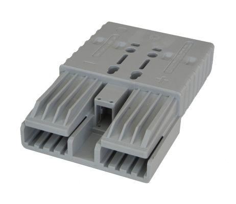 REMA Flachkontaktstecker SRX 350, grau, 36 Volt, komplett mit wählbaren Hauptkontakten